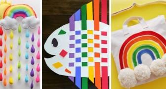 10 fantastici lavoretti fai-da-te a tema arcobaleno ideali per bambini e adulti