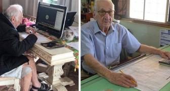 Hij is 92 jaar en gaat nog steeds naar de universiteit: zijn droom is architect te worden