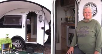 Una mujer jubilada compra una mini casa rodante y viaja por los Estados Unidos: es pequeña pero tiene todas las comodidades