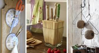 12 proposte fantasiose per riciclare vecchi oggetti e trasformarli in ottime soluzioni per organizzare gli spazi