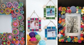 12 trovate brillanti per creare e decorare cornici fai-da-te con materiali di riciclo e non solo