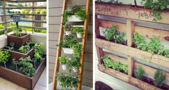 11 idee originali e salva-spazio per coltivare frutta e verdura in pratici orti da balcone