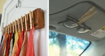 12 modi intelligenti per riutilizzare le mollette del bucato e risolvere tanti piccoli inconvenienti quotidiani