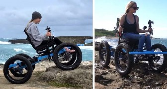 Crea una sedia a rotelle fuoristrada per la fidanzata disabile: nel giro di un anno riesce a produrla in serie