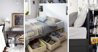 10 soluzioni utili e ingegnose per ricavare spazio anche nelle camere da letto più anguste