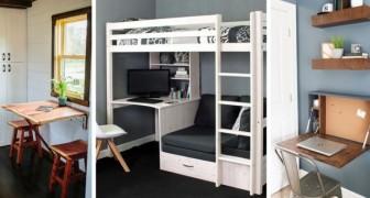 10 ingegnose soluzioni d'arredo ideali per trovare spazio anche negli appartamenti più piccoli