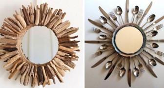 15 semplici tecniche fai-da-te per creare fantastiche cornici con cui personalizzare i vostri specchi