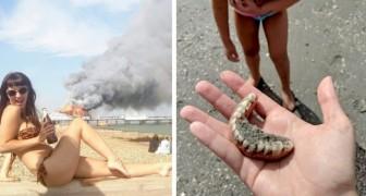 15 foto's die laten zien dat op het strand echt van alles kan gebeuren