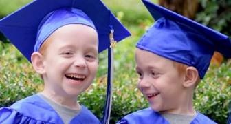 Estes dois gêmeos siameses nasceram contra todas as expectativas: agora comemoram a chegada no ensino fundamental