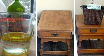 Il semplice procedimento fai-da-te per preparare in casa un prodotto naturale con cui pulire e lucidare il legno