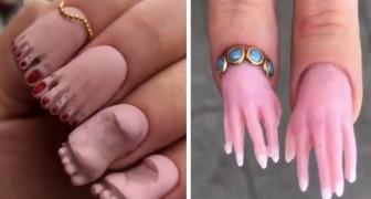 Nägel mit kleinen Händen und Füßen: Dieser neue Trend ist recht bizarr und ein bisschen verstörend