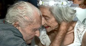 Lui ha 100 anni, lei 96: nonostante l'età, si sposano nella casa di riposo dove si sono conosciuti due anni prima