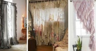 11 idées intéressantes pour décorer les chambres avec des rideaux shabby chic