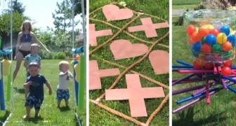 8 semplici giochi fai-da-te da costruire in giardino riciclando oggetti comuni