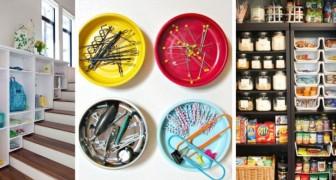 12 trovate pratiche ed efficienti per organizzare al meglio tutti gli ambienti di casa