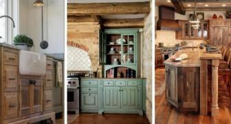 8 irresistibili combinazioni per dare alla vostra cucina un delizioso aspetto rustico