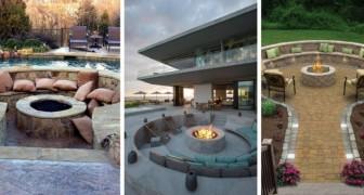 11 soluzioni d'effetto per allestire un confortevole salotto attorno a un braciere da giardino