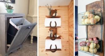 12 meubles simples à construire, de style rustique, parfaits pour créer plus d'espace