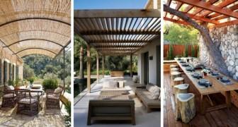 10 idee una più bella dell'altra per creare pergole e spazi confortevoli tra la casa e il giardino