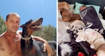 Un uomo abbandona il suo lavoro per aprire un rifugio e prendersi cura degli animali randagi dell'isola di Creta