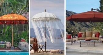 11 strepitosi ombrelloni da giardino: dalle soluzioni moderne a quelle vintage, tutte piene di fascino