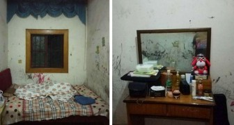 With very little money a student managed to refurbish his old and dirty room: a great job