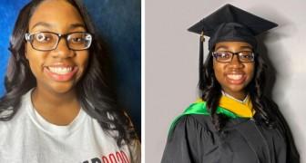 Depois de se formar na faculdade, esta menina de 14 anos já completou também o mestrado