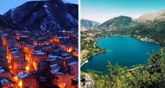 En Italie, il y a un petit village avec un lac en forme de cœur qui enchante tous les visiteurs par sa beauté