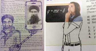 12 der ironischsten und kreativsten Kritzeleien, die Menschen zwischen die Seiten von Büchern gezeichnet haben