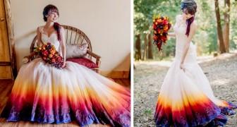 Una ragazza dipinge il suo abito da sposa e le foto fanno il giro del web: ora ha un piccolo atelier di moda tutto suo