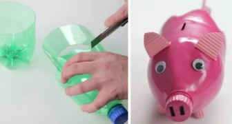 Il lavoretto semplice e simpatico per creare un salvadanaio a forma di maialino riciclando una bottiglia di plastica