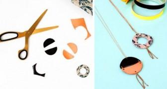 Il semplicissimo metodo fai-da-te per creare fantastici pendenti di cuoio o pelle in puro stile minimal