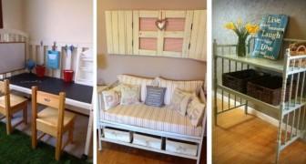 9 idee brillanti per riciclare vecchie culle e trasformarle in splendidi mobili per arredare la casa o il giardino