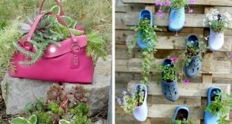 10 idee di riciclo fantasioso per dare un tocco di originalità al vostro giardino o spazio esterno