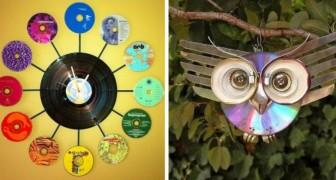 10 simpatiche decorazioni fai da te per riciclare vecchi CD e DVD