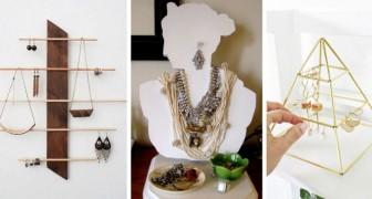 10 semplici e funzionali organizer per gioielli fai da te, uno più bello dell'altro