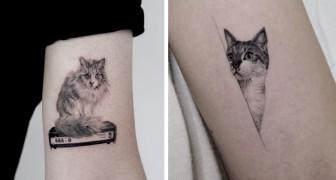 10 persone che hanno sfoggiato tutto il loro amore per i gatti con un tatuaggio tenero ed originale