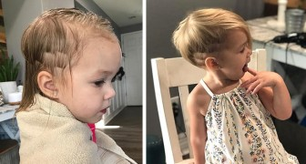 Brother hacks off little sister's hair: hairstylist saves the day and turns her hair disaster into a cute and edgy haircut