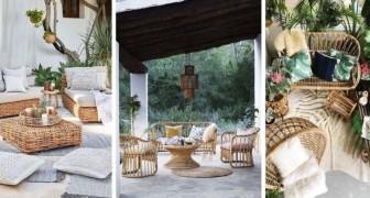 10 incantevoli salotti in vimini da cui trarre ispirazione per arredare portici, terrazzi e giardini