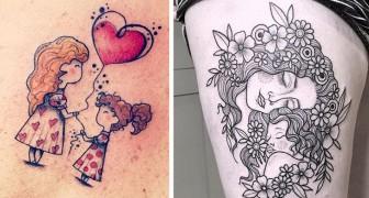 13 emocionantes tatuajes de madre e hija que contienen toda la belleza de esta relación especial