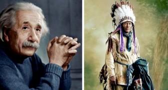 Un ragazzo colora a mano vecchissime fotografie e ci fa vedere alcuni personaggi storici con occhi diversi
