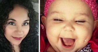 Ela posta uma foto falsa de sua filha com um piercing na bochecha e uma violenta polêmica começa na Internet