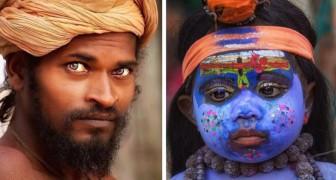 Durante un viaggio in India fotografa la gente del luogo: le persone sembrano parlare con lo sguardo
