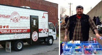 A man builds a shower truck for the homeless: the idea to restore dignity to those who have nothing
