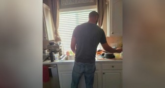 Después de un turno de 13 horas vuelve a la casa y le pregunta a la mujer si le sirve una mano para hacer las tareas domésticas