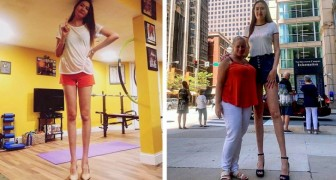 This girl is 2 meters tall and is the woman with the second longest-legs in the world