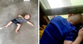 10 scatti fotografici che dimostrano che vivere con bambino piccolo richiede tantissima pazienza