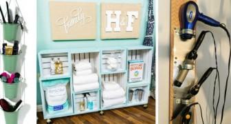 11 trovate brillanti per arredare il bagno e trovare spazio per tutti gli accessori utili