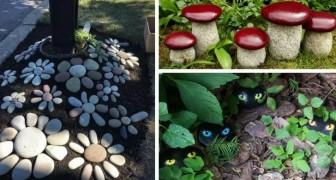 11 strepitose decorazioni per il giardino che potete realizzare con massi e sassi dipinti