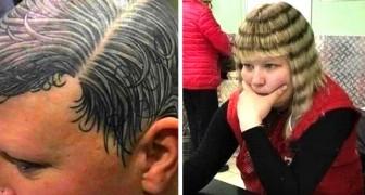 13 personnes qui n'ont pas eu honte de montrer les coiffures les plus absurdes et les plus embarrassantes